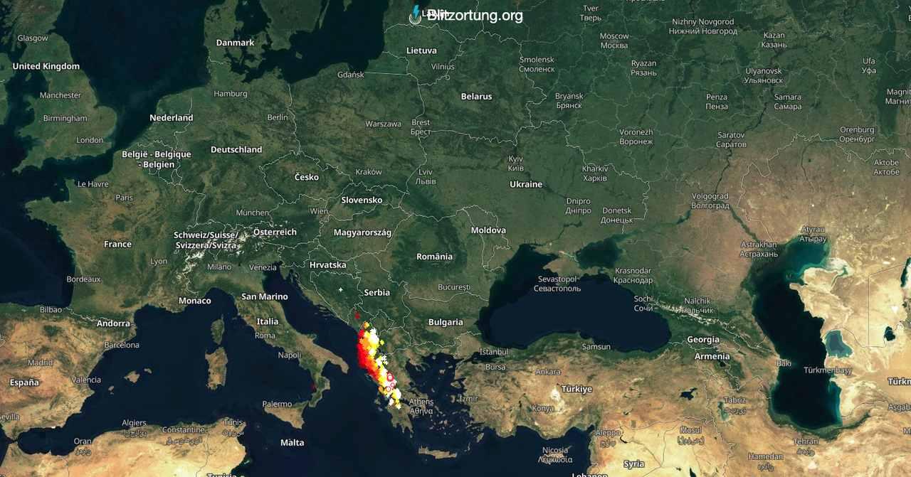 Mapa burzowa blitzortung