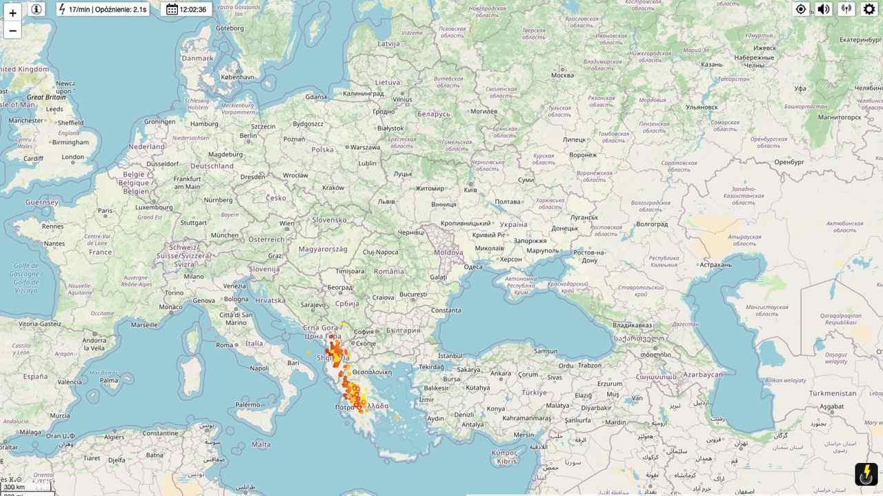 Mapa burzowa lighting